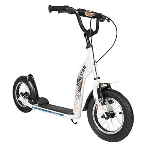 Bikestar Trottinette Enfant 2 Roues pour Garcons et Filles de 6-10 Ans ? Patinette Enfant 12 Pouces Sportif ? Blanc (Star-Trademarks-Shop, neuf)
