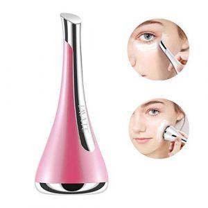 Appareil Anti Rides Visage, Appareil à Ultrason Visage baguette magique galvanique anti-âge sonique pour les yeux anti-rides - dispositif cosmétique SPA de radiofréquence pour le visage,Pink (Linlin  Gao, neuf)