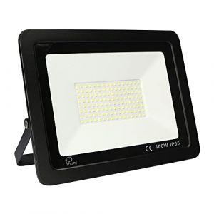 Projecteur LED extérieur 100W étanche IP65 Projecteur d'extérieur 4500K blanc froid 10000Lm éclairage extérieur [Classe d'efficacité énergétique A] (YCZM, neuf)
