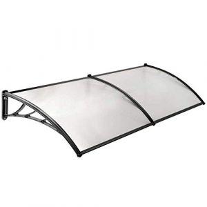 WerkaPro 10847 - Marquise en Polycarbonate - 80x240cm - Noir - Traitée anti UV (Provence Outillage, neuf)