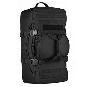 Huntvp 60L Sac à Dos de Grande Capacité pour Homme Sac de Bagage Sac de Multifonction Tactique Militaire Molle Sac en Nylon pour Voyage Escalade Chasse Camping Randonnée Cyclisme (outdoors-fr, neuf)