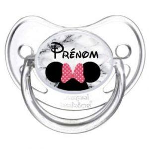 Tétine sucette bébé personnalisée Minnie PL009 (Tétine bébé personnalisée, neuf)