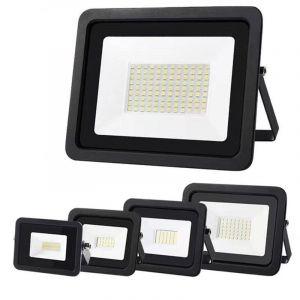 10W 20W 30W 50W 100W LED projecteur 220V ultra-mince projecteur IP68 étanche lampe de jardin extérieur (wctebay, neuf)
