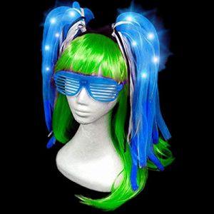 Cuhair 1pc Lumineux Noodle Bandeau Cheveux Cerceau Accessoires Cheveux pour Femme Fille Party (adiasen chen, neuf)