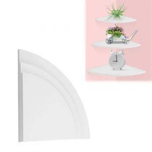 étagères murales d'angle, étagères murales d'angle, 3Pcs étagère d'angle flottante, Support de rangement mural, pour décorations de bureau à la maison avec support d'angle, 3 pièces (runatyo, neuf)