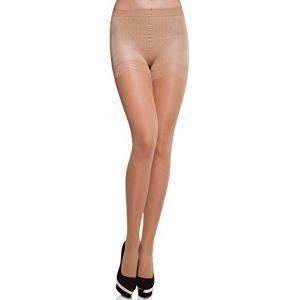 Merry Style Collant Sous-vêtement Minceur Gainant Push Up Femme MS 128 40 DEN (Melisa, L) (Hisert, neuf)