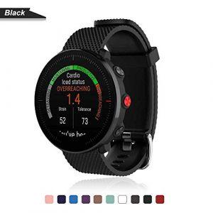 Bemodst Bracelet pour Polar Vantage M Smartwatch, Bande de Remplacement en Silicone Poignet Sangle de Sports Watch Accessoires pour Polar Vantage M Montre Intelligente (Noir) (LiQian Tech, neuf)