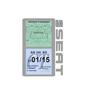 Générique Étui Double Assurance Seat Gris Porte Vignette adhésif Voiture Stickers Auto Retro (Stickers-auto-retro, neuf)