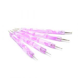 5 Dotting Tool Manche Marbré (ongle amor, neuf)