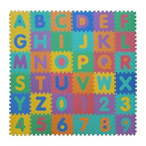 VeloVendo® - Tapis Mousse Bébé | Dalles 32 x 32 cm avec Certification CE & TÜV | Tapis pour Enfants | Tapis de Puzzle (Lettres + Chiffres) (Velovendo  Boutique, neuf)