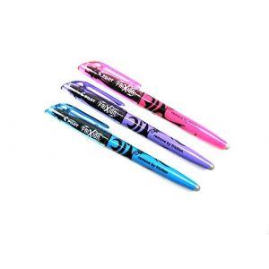 Pilot Frixion Paquet de stylos surligneur) Lot de 3couleurs assorties (Violet, Bleu et Rose) (Papeterie Libellus, neuf)