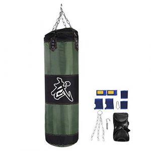 Sac de boxe, 7 + 1 entra?nement vide Crochet de boxe Kick Sandbag Fight Karaté Punch Gants pour sac de sable - non remplis(2# 1M) (runatyo, neuf)
