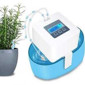 Landrip Système d'arrosage DIY - Kit d'arrosage Automatique pour Les Vacances avec Tuyau de 10 mètres pour Plate-Bandes, terrasse, Jardin ou Plantes en Pot (HZT, neuf)