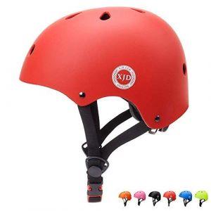 """XJD réglable Casque pour Enfant Kid Casque de vélo pour Multisport BMX Cyclisme Skateboard, XJD-KH101M, Red, M: 55-57 cm / 21.65""""-22.44 (XJD Store, neuf)"""