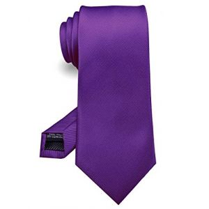 JEMYGINS Pourpre Cravate Cousue Main pour Homme - Travail, Fête(8),Pourpre,M (JEMYGINS Tie Official Store, neuf)