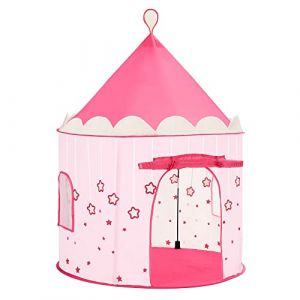 SONGMICS Tente de Jeu Chateau de Princesse pour Fille, Maison de Jeu Intérieure et Extérieur, Portatif avec Étoiles Brillantes, Cadeau pour Enfants, Rose LPT01PK (Songmics, neuf)
