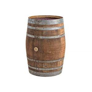 Temesso Barrique de vin, Citerne Eau de Pluie en Bois de chêne 225 litres recupérateur (Tonneau Ouvert) (TEMESSO, neuf)