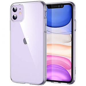 ESR Coque pour iPhone 11, Bumper Housse Etui de Protection Transparent en Silicone TPU Souple [Ultra Fin] [Ultra Léger] pour iPhone 11 (2019) 6,1 Pouces (Série Jelly, Transparent) (BDCollection EU Store, neuf)