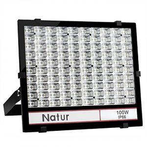 100W Projecteur LED exterieur 10000LM Natur,IP66 Imperméable,led eclairage exterieur,Blanc froid(6000K),Eclairage de Sécurité,idéal pour éclairage public,garage,couloir,jardin,etc, (Bapro, neuf)
