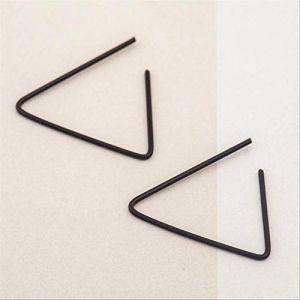 Boucles d'oreilles vacances Design simple alliage Triangle ouvert Stud boucles d'oreilles géométrique boucle d'oreille pour hommes et femmes bijouxnoir (Graceguoer, neuf)