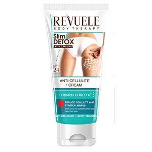 REVUELE Gel Anti Cellulite contre la peau d'orange et les vergetures à la caféine 200 ml (Power Khan UK, neuf)