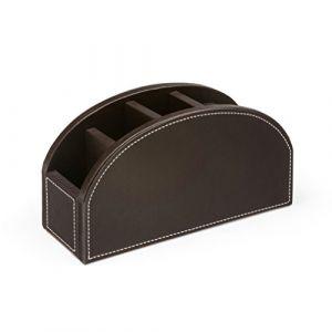 Osco simili cuir courbé Tidy Desk–Marron (PriceQualityService PQS, neuf)