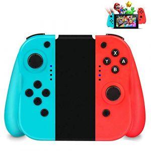 Powcan Switch Controller, Manette pour Nintendo Switch, Switch Pro sans Fil Contrôleur Bluetooth Gamepad (Blue & Red) (Bleu rouge) (Powcan, neuf)