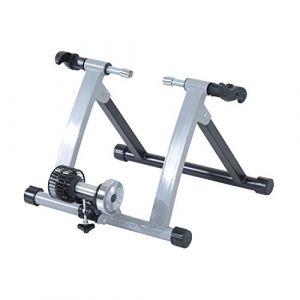 Home Trainer pour Velo Argent Noir equipement/Support Entrainement vélo (Aosom fr, neuf)