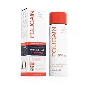 FOLIGAIN® Après-Shampoing Homme contre la Chute des Cheveux et la Calvitie | Formule triple action au Trioxidil - Pour les cheveux fins | Densifie et donne du Volume à vos cheveux | 236 ml (Todd's Supplies, neuf)