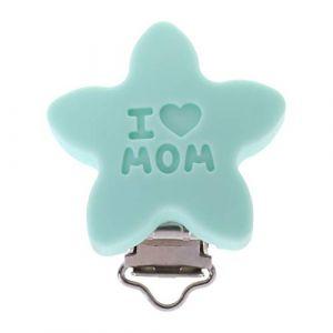 Mentin Attaches de sucette bébé Silicone de Clips Forme d'étoile factices DIY Chaîne de sucette Accessoire de mamelon (Vert) (Mentin, neuf)