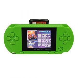 Console de jeu portable,lecteur de jeu portable avec écran couleur LCD de 2,7 pouces intégré dans les jeux classiques livré avec cartes de jeu,cadeaux d'anniversaire pour enfants (vert) (TuHao88, neuf)