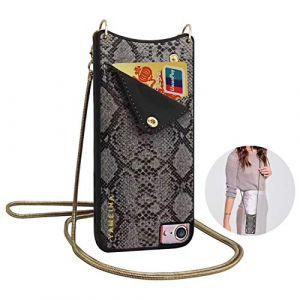 Qianyou, Sac bandoulière pour femme noir Noir iPhone 6 plus/6s plus (Qiyou, neuf)