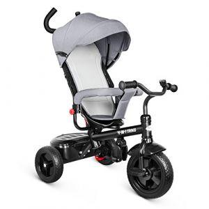 besrey 4 en 1 Tricycle Poussette Vélo Walker Pour Enfant de 12 mois à 72 mois avec le pare-soleil et la tige-poussoir Gris (Aigo GmbH, neuf)