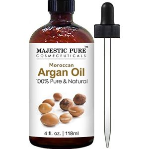 Moroccan Argan Oil for Hair and Skin From Majestic Pure, 100% Natural, Organic, Cold Pressed & Triple Extra Virgin, 4 Oz, Experience the Grade 1 Argan Oil Now! by Majestic Pure (Vibrantly Healthy (US Seller), neuf)