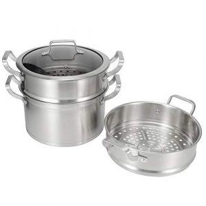 Ensemble de cuiseur vapeur multicouche, casserole, ustensiles de cuisine pour une cuisson saine des plaques de cuisson à induction (Jackskinge, neuf)
