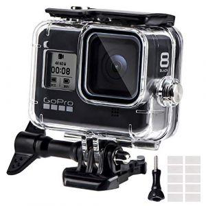 Boîtier Etanche pour GoPro Hero 8 Black, Boîtier Plongée Etanche de 60 M avec Mont Thumbscrew et 16 Insert Anti-buée Accessoires Kit pour Gopro Hero 8 Caméra d'action Noire 2019 (Homelink EU, neuf)