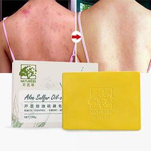 Symeas Pain de savon au soufre Barre de nettoyage au soufre Advanced Wash pour le corps acné et le rétrécissement des pores Savon savon artisanal (Someas, neuf)
