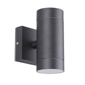 Applique extérieur noir double faisceau (Venice Noir GU10 IP54) (Eclairage Design, neuf)