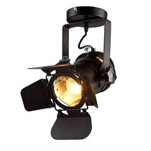 Plafonnier Vintage Projecteur E27 Spot Lumière Spot Industriel Mur/Plafonnier Réglable En Métal Luminaire Pendant (Fixed) (lintaiHousewares, neuf)