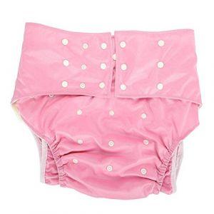 Couche lavable pour adulte, pantalon à couches réutilisable contre l'incontinence pour adultes, poche double ouverture réglable sans fuite, pour les personnes âgées et handicapés (Alucyu, neuf)