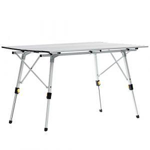 skandika Table de Camping Pliable Pliante en Aluminium Portable 6 Personnes + Sac de Transport
