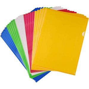 FEPITO 25 Pcs A4 Zip Document Dossier Pochette Flush Folders Plastique Porte documents Couleurs assorties (KUUQA DIRECT, neuf)