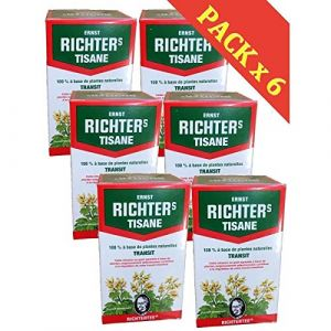 ? Tisane Ernst Richter spécial Transit | Plusieurs conditionnements | Lot de 6 boîtes de 20 infusions + en cadeau : un joli stickers Set Products ?? (Lot de 6) (SET PRODUCTS, neuf)