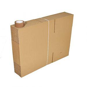 Lot de 15 cartons standard déménagement + 1 adhésif (Votrebienetre, neuf)