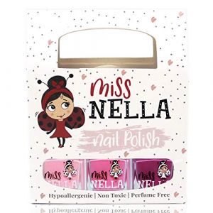 Miss Nella PETIT SET DOUX: SET de 3 vernis à ongles peel off, sans odeur, sans eau et sauf pour les enfant- Cheeky Bunny, Pink A Boo & Little Poppet (MoyouItalia, neuf)