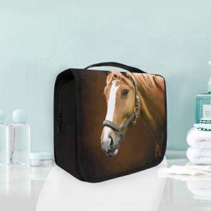 Trousse de toilette portative à maquillage, sac de rangement, sac de rangement pour sac de voyage pour cheval à suspendre, animaux, filles (Nathaniel Toynbee, neuf)