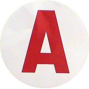 Disque A Jeune Conducteur Débutant Adhésif pour Voiture Auto - 06 (MAELSA, neuf)