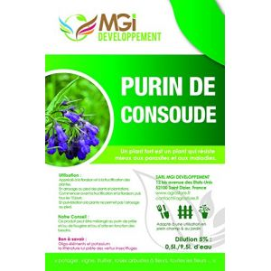 MGI DEVELOPPEMENT Purin de Consoude made in France - 5 Litres - fortifiant écologique (MAPI-FRANCE, neuf)