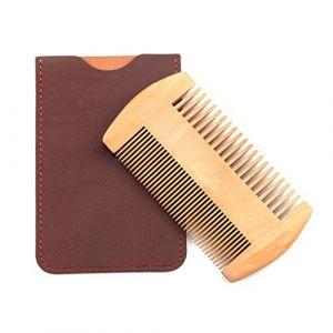 Brosse à barbe, brosse à barbe, brosse à barbe en bois de hêtre de haute qualité, forme de moustache en bois de poire et outils de peigne de coiffage (Greeflu, neuf)