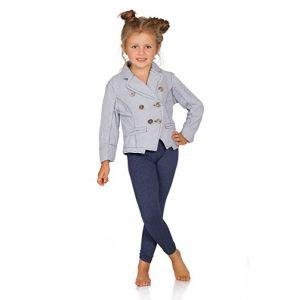 FUTURO FASHION® - Legging Long pour Enfant/Fille - épais/Chaud - Coton - Taille 11 Ans - Denim (Futuro Fashion, neuf)